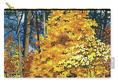 Carry-all Pouch featuring the painting Autumn Invitation by Barbara Jewell