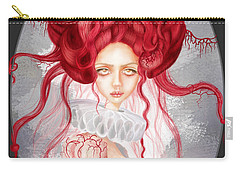 Carry-all Pouch featuring the drawing Autumn by Julia Art