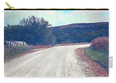 Carry-all Pouch featuring the photograph Autumn Kansas Countryside Road by Anna Louise