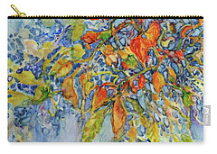 Carry-all Pouch featuring the painting Autumn Lace by Joanne Smoley