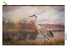 Autumn Lake Crane Carry-all Pouch