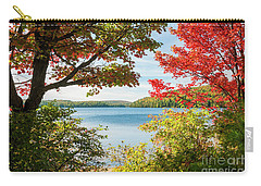 Carry-all Pouch featuring the photograph Autumn Lake by Elena Elisseeva