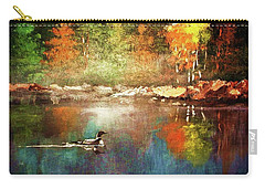 Autumn Lake Reflections Carry-all Pouch