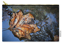 Carry-all Pouch featuring the photograph Autumn Leaf by Debra and Dave Vanderlaan