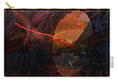 Carry-all Pouch featuring the digital art Autumn Leaf by Stuart Turnbull