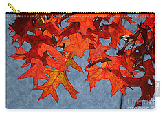 Carry-all Pouch featuring the photograph Autumn Leaves 19 by Jean Bernard Roussilhe
