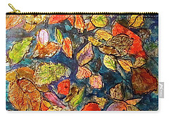 Autumn Leaves Carry-all Pouch by Barbara O'Toole
