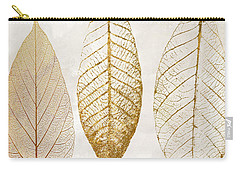Autumn Leaves IIi Fallen Gold Carry-all Pouch by Mindy Sommers