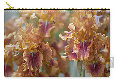 Autumn Leaves Irises In Garden Carry-all Pouch