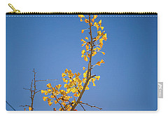 Carry-all Pouch featuring the photograph Autumn Leaves Is Changing Color During October Fall Season With  by Jingjits Photography