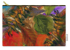 Carry-all Pouch featuring the digital art Autumn Leaves by Klara Acel