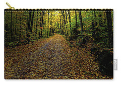 Carry-all Pouch featuring the photograph Autumn Leaves On The Trail by David Patterson