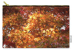 Autumn Leaves Painted Carry-all Pouch