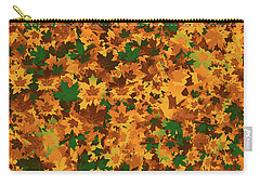 Autumn Leaves Pattern Carry-all Pouch by Methune Hively