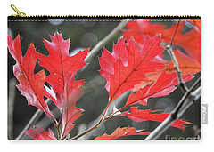 Carry-all Pouch featuring the photograph Autumn Leaves by Peggy Hughes