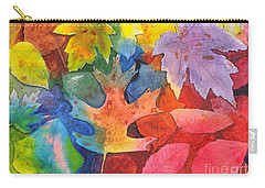 Autumn Leaves Recycled Carry-all Pouch