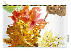 Autumn Leaves Still Life Carry-all Pouch by Ellen Levinson