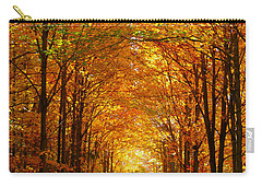 Autumn Light And Leaf Painting Carry-all Pouch