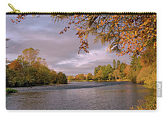 Carry-all Pouch featuring the photograph Autumn Light By The River Ness by Jacqi Elmslie