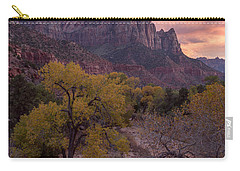 Carry-all Pouch featuring the photograph Autumn Light Over The Watchman by Patricia Davidson