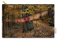 Carry-all Pouch featuring the photograph Autumn Linens by Robin-Lee Vieira