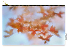 Carry-all Pouch featuring the photograph Autumn Maple Leaves Soft by Diane Alexander