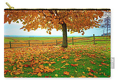 Autumn Maple Tree And Leaves Carry-all Pouch