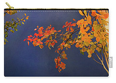 Carry-all Pouch featuring the photograph Autumn Matinee by Theresa Tahara