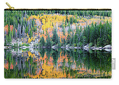 Carry-all Pouch featuring the photograph Autumn Mirror At Bear Lake by David Chandler