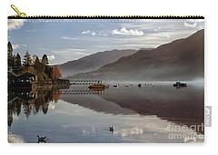 Carry-all Pouch featuring the photograph Autumn Mist On Loch Goil Argyll by Lynn Bolt