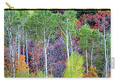 Carry-all Pouch featuring the photograph Autumn Mix by Bryan Carter