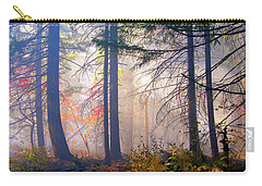 Autumn Morning Fire And Mist Carry-all Pouch by Diane Schuster