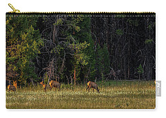 Carry-all Pouch featuring the photograph Autumn Morning In The Meadow by Yeates Photography