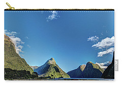 Carry-all Pouch featuring the photograph Autumn Morning Milford Sound by Gary Eason