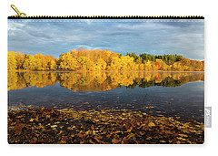 Autumn Morning Reflection On Lake Pentucket Carry-all Pouch by Betty Denise