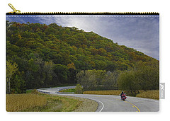 Autumn Motorcycle Rider / Red Carry-all Pouch
