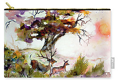Autumn Oak And Deer Sunset  Carry-all Pouch