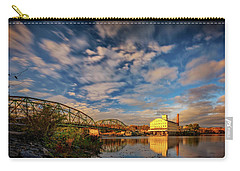 Carry-all Pouch featuring the photograph Autumn On The Androscoggin River by Rick Berk