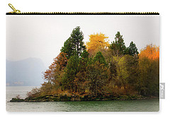 Carry-all Pouch featuring the photograph Autumn On The Columbia by Albert Seger