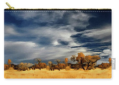 Carry-all Pouch featuring the painting Autumn On The Edge Of The Great Plains  by David Dehner