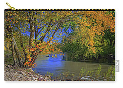 Autumn On The North Raccoon Carry-all Pouch by Bruce Morrison