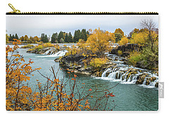 Carry-all Pouch featuring the photograph Autumn On The Snake River by Yeates Photography