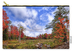 Carry-all Pouch featuring the photograph Autumn On The Stream by David Patterson