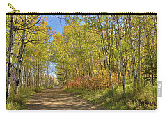 Carry-all Pouch featuring the photograph Autumn On The Trail by Jim Sauchyn