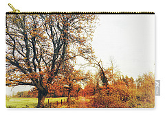 Autumn On White Carry-all Pouch