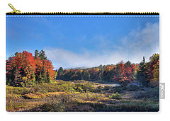 Carry-all Pouch featuring the photograph Autumn Panorama At The Green Bridge by David Patterson