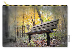 Autumn Park Bench Carry-all Pouch