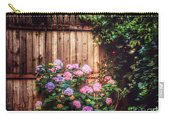 Carry-all Pouch featuring the photograph Autumn Peace - Garden by Miriam Danar