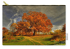 Autumn Picnic On The Hill Carry-all Pouch by Lois Bryan
