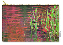 Carry-all Pouch featuring the photograph Autumn Pond Colors by Alan L Graham